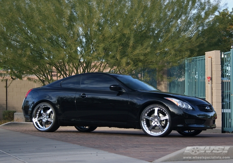 infiniti g37 custom wheels giovanna spezia 5 22x et. Black Bedroom Furniture Sets. Home Design Ideas