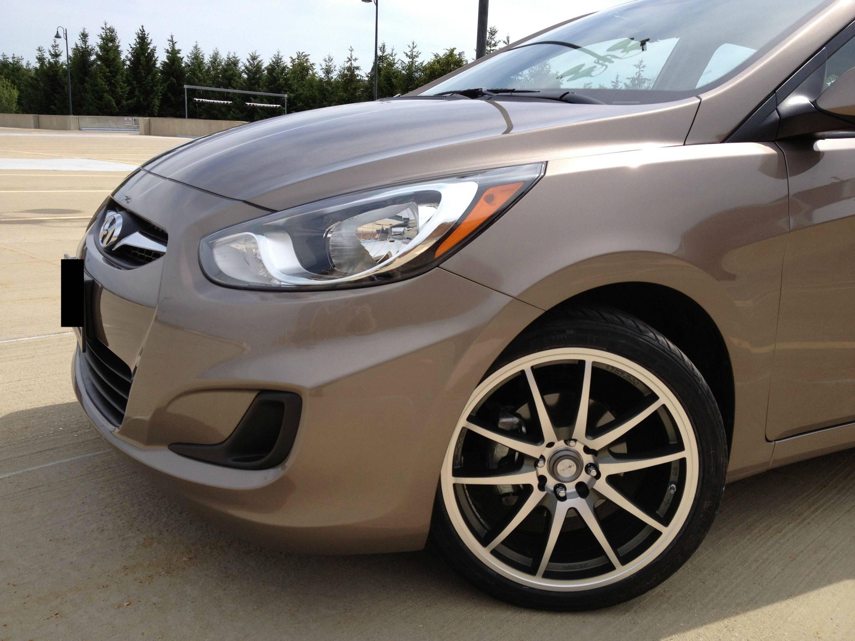 Hyundai Accent Custom Wheels Focal F10 17x7 0 Et Tire Size 205 40