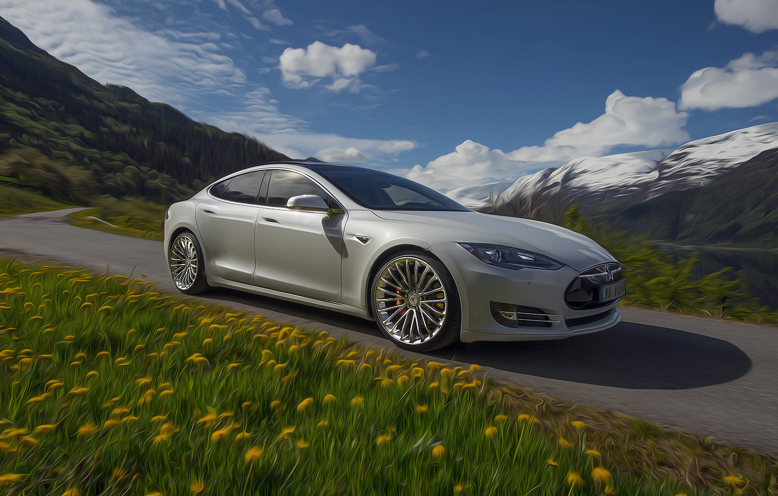 Tesla Model S custom wheels Breyton LS 21x9.0, ET +35 ...
