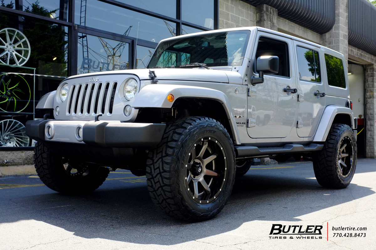 Jeep Wrangler custom wheels Fuel Rampage 20x, ET , tire size / R20. x ...