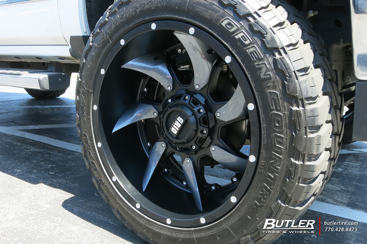 Grid Gd1 Wheels >> Chevrolet Silverado 2500HD custom wheels Grid Off-Road GD1 22x, ET , tire size / R22. x ET