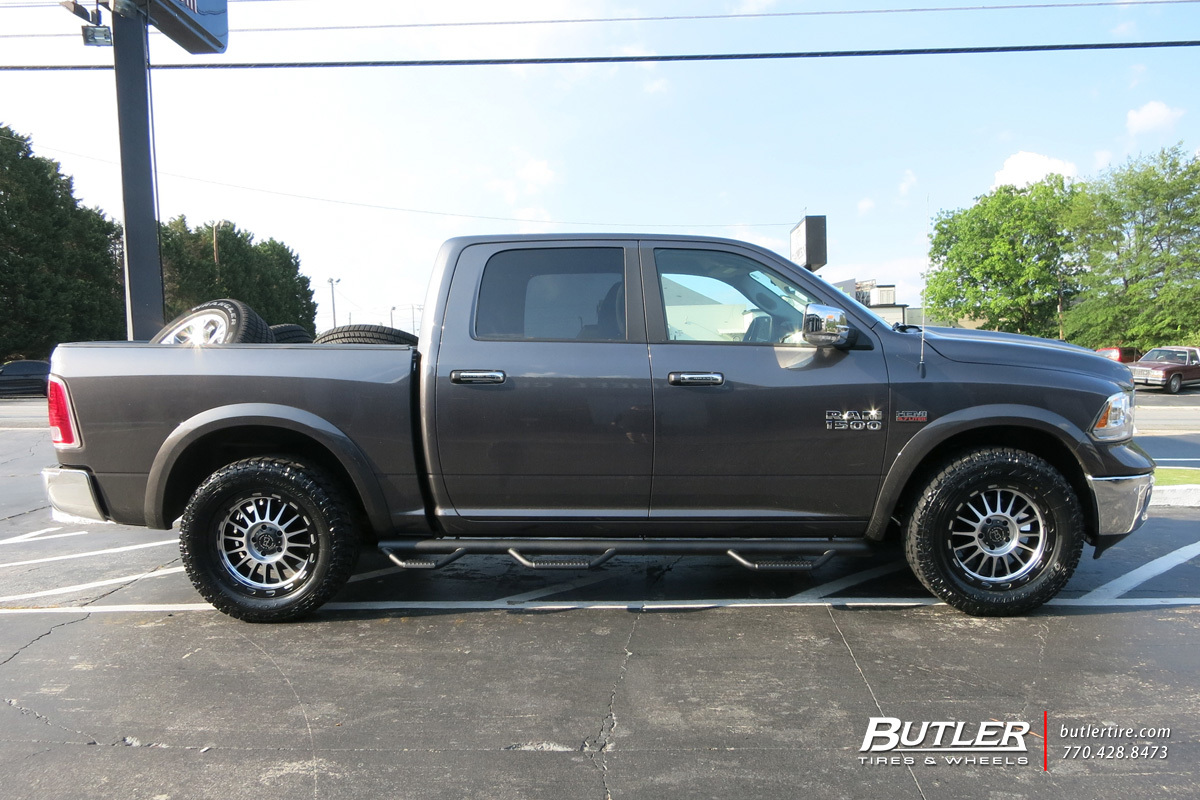 RAM 1500 custom wheels Black Rhino Taupo 20x, ET , tire ...