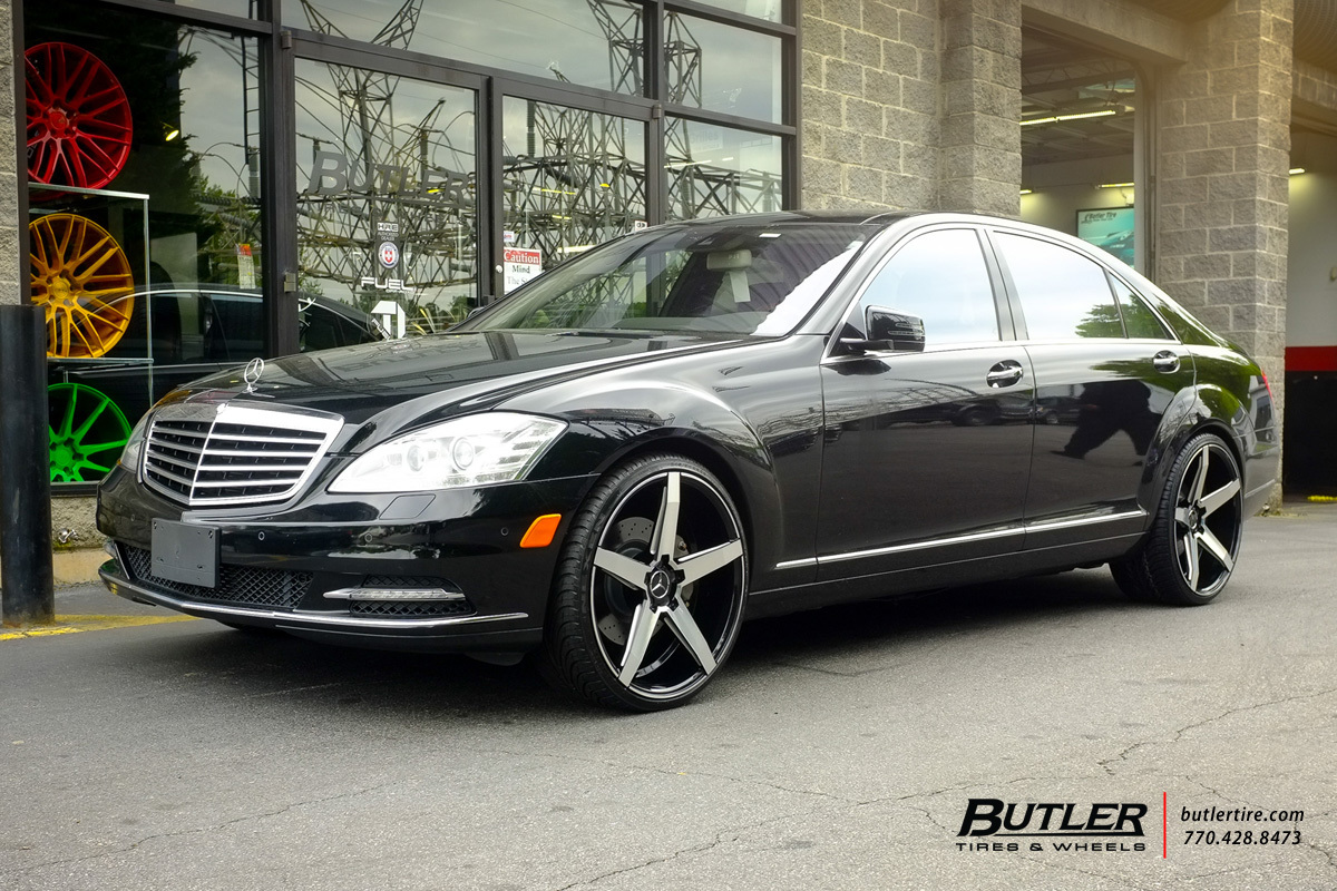 Mercedes benz s class custom wheels savini bm11 22x et for Mercedes benz tire sizes