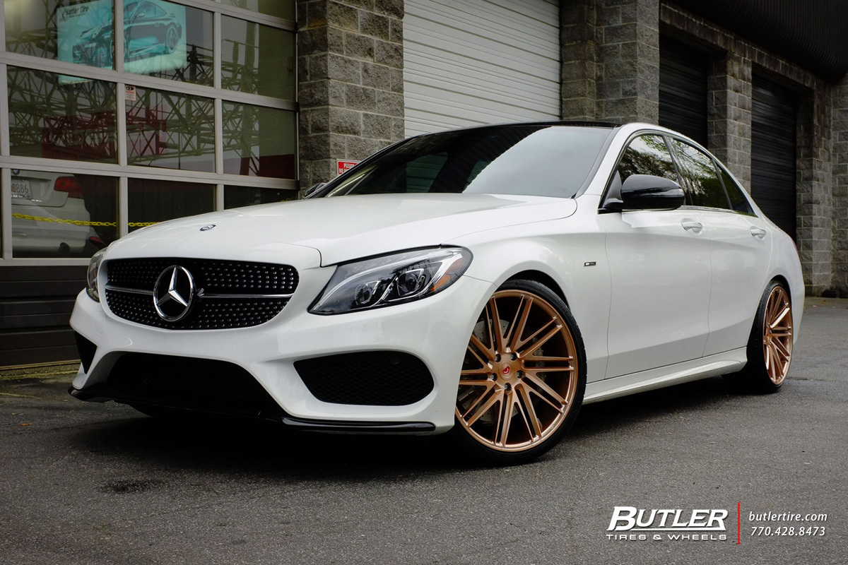 Mercedes benz c class custom wheels vossen vps 307t 20x for Mercedes benz c300 tire size