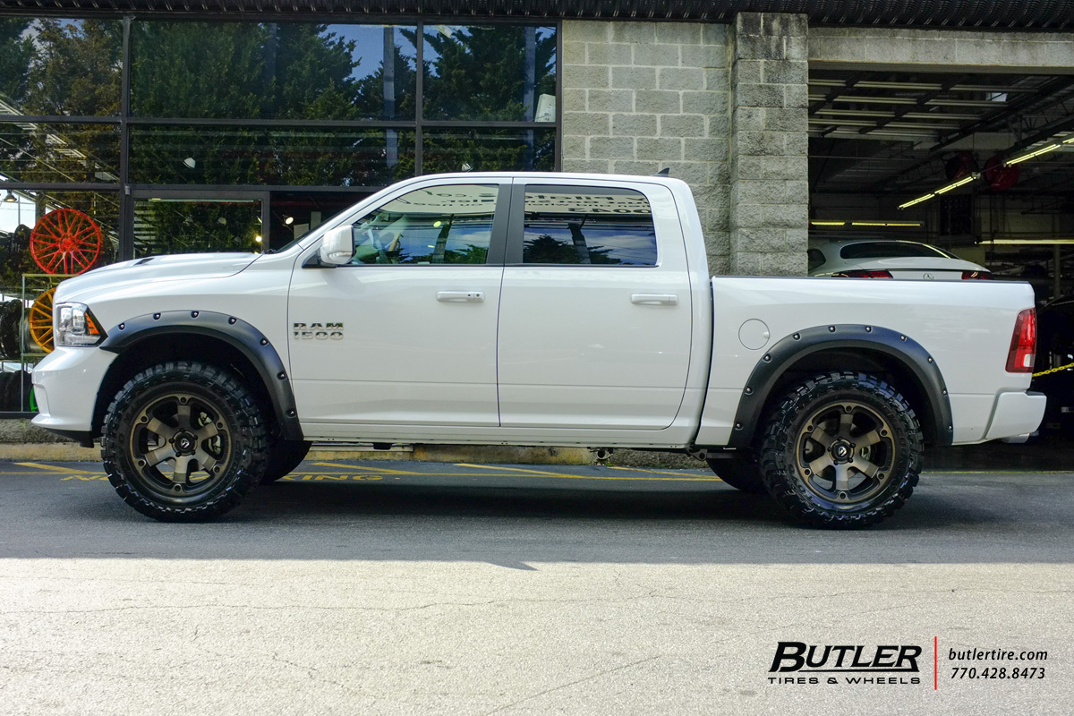 RAM 1500 custom wheels Fuel Beast 20x, ET , tire size