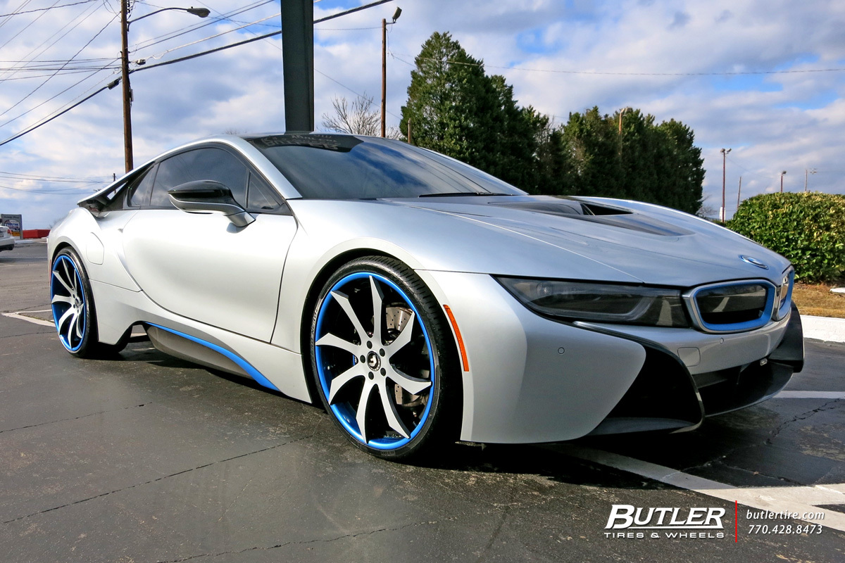 Bmw I8 Custom Wheels Forgiato Fondare Ecl 22x Et Tire Size R22