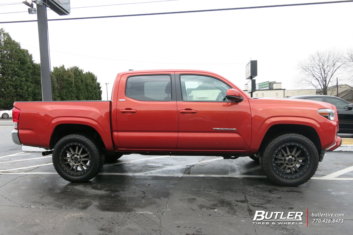toyota tacoma custom wheels black rhino tanay 20x et tire size r20 x et. Black Bedroom Furniture Sets. Home Design Ideas