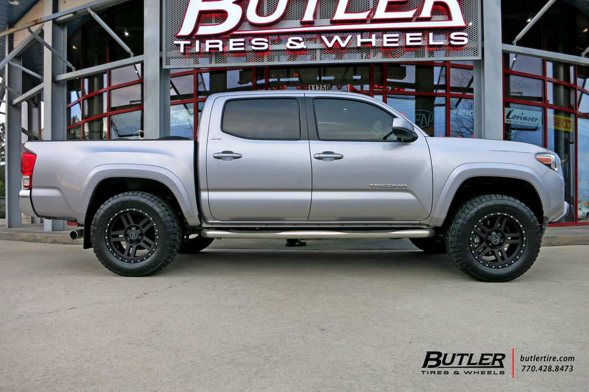 toyota tacoma custom wheels black rhino mojave 18x et tire size r18 x et. Black Bedroom Furniture Sets. Home Design Ideas