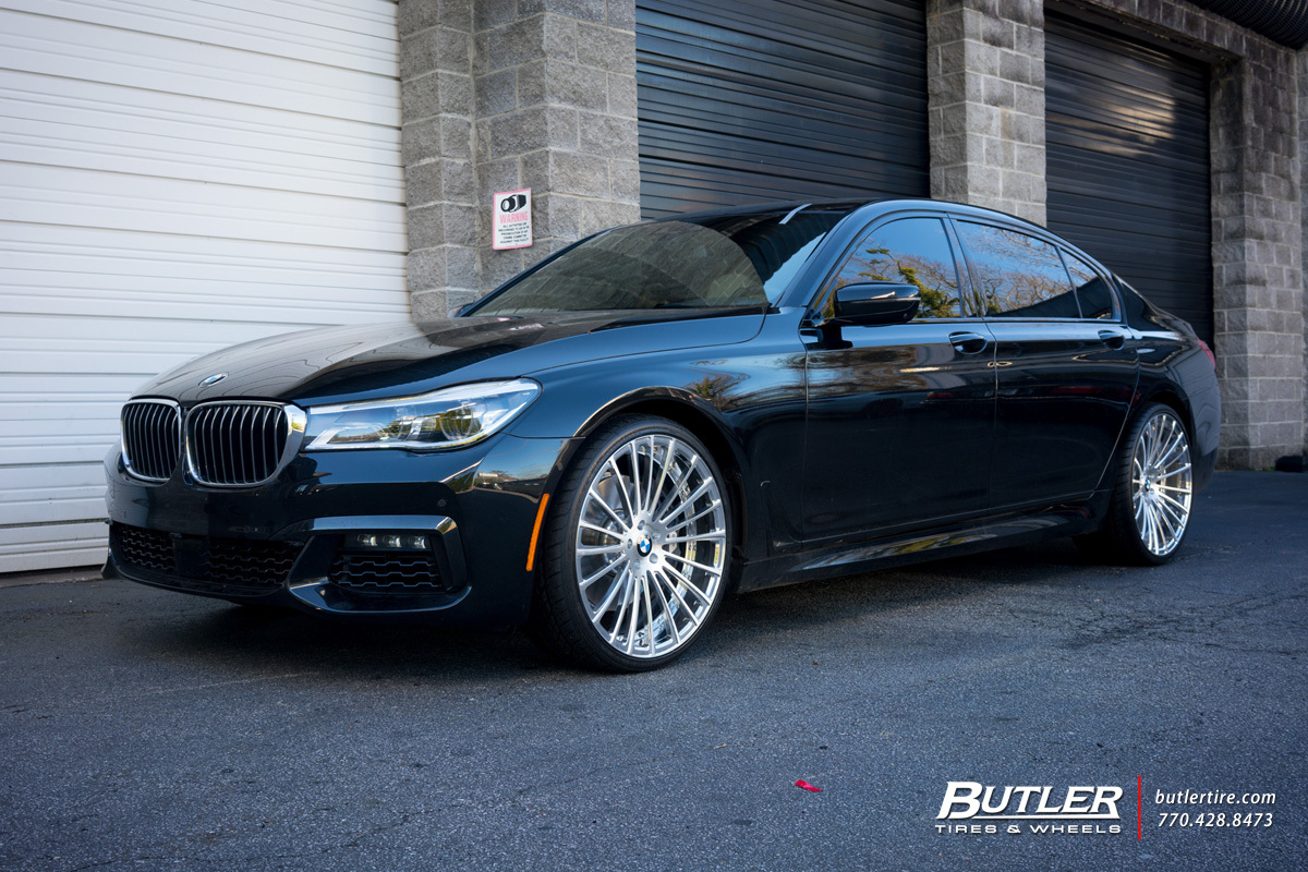 BMW 740 custom wheels Savini SV61D 22x, ET , tire size ...