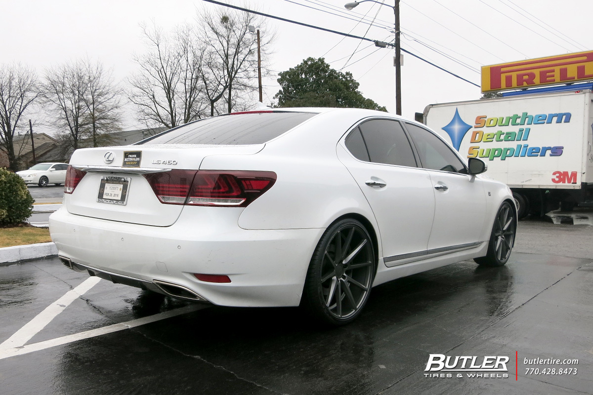 lexus ls 460 custom wheels vossen vfs1 22x et tire size r22 x et. Black Bedroom Furniture Sets. Home Design Ideas