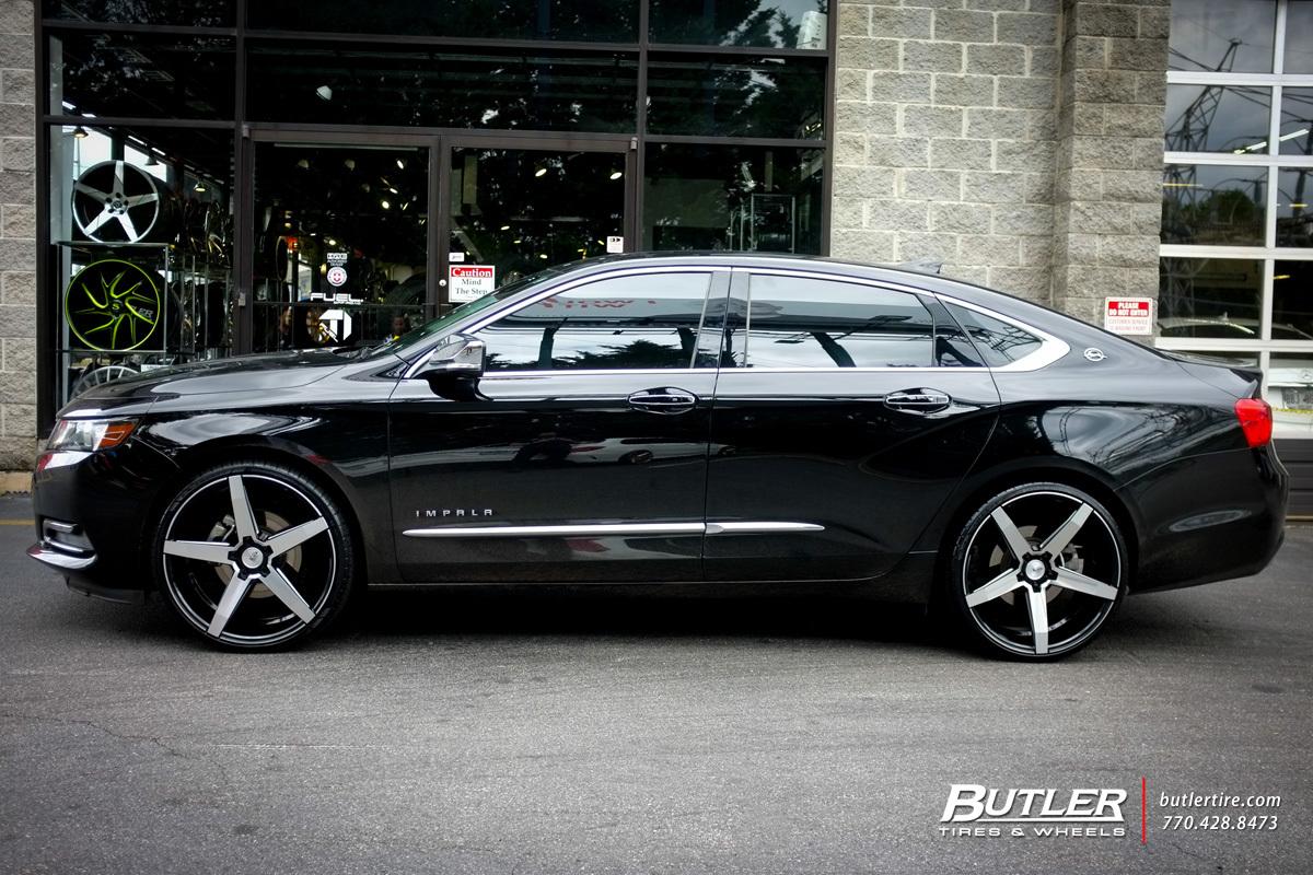 Chevrolet Impala custom wheels Savini BM11 22x, ET , tire size / R22 ...