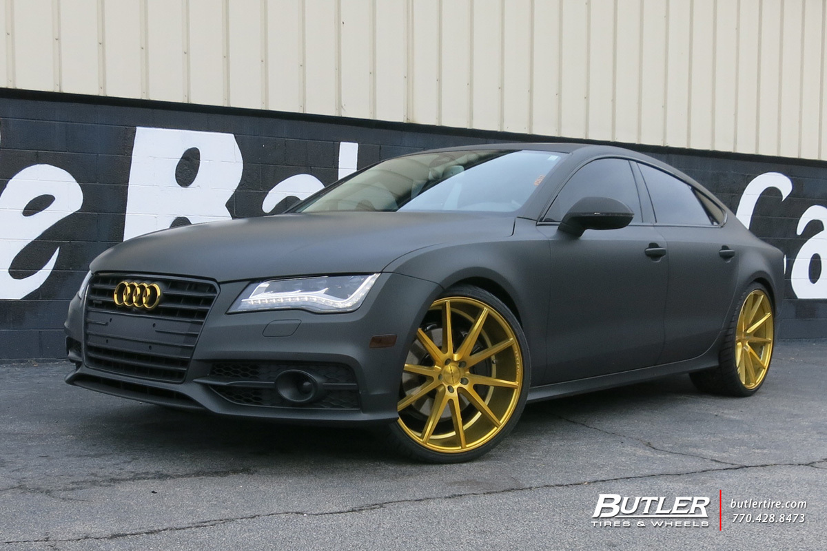 Audi A7 Custom Wheels Vossen Vfs1 22x Et Tire Size