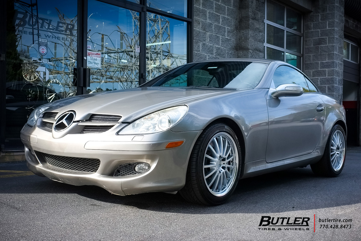 Mercedes benz slk class custom wheels mandrus millenium for Mercedes benz tire sizes