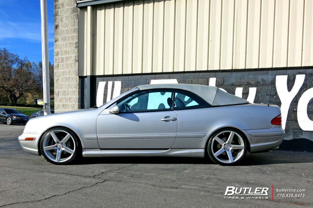 Mercedes benz clk class custom wheels niche milan 19x et for Mercedes benz tire sizes