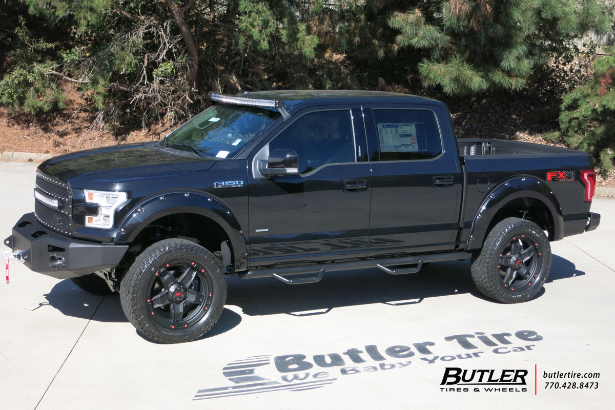 ford f 150 custom wheels tuff t10 22x et tire size. Black Bedroom Furniture Sets. Home Design Ideas