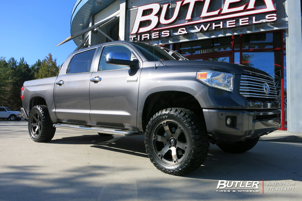 Toyota Tundra Custom Wheels Fuel Beast 20x Et Tire Size