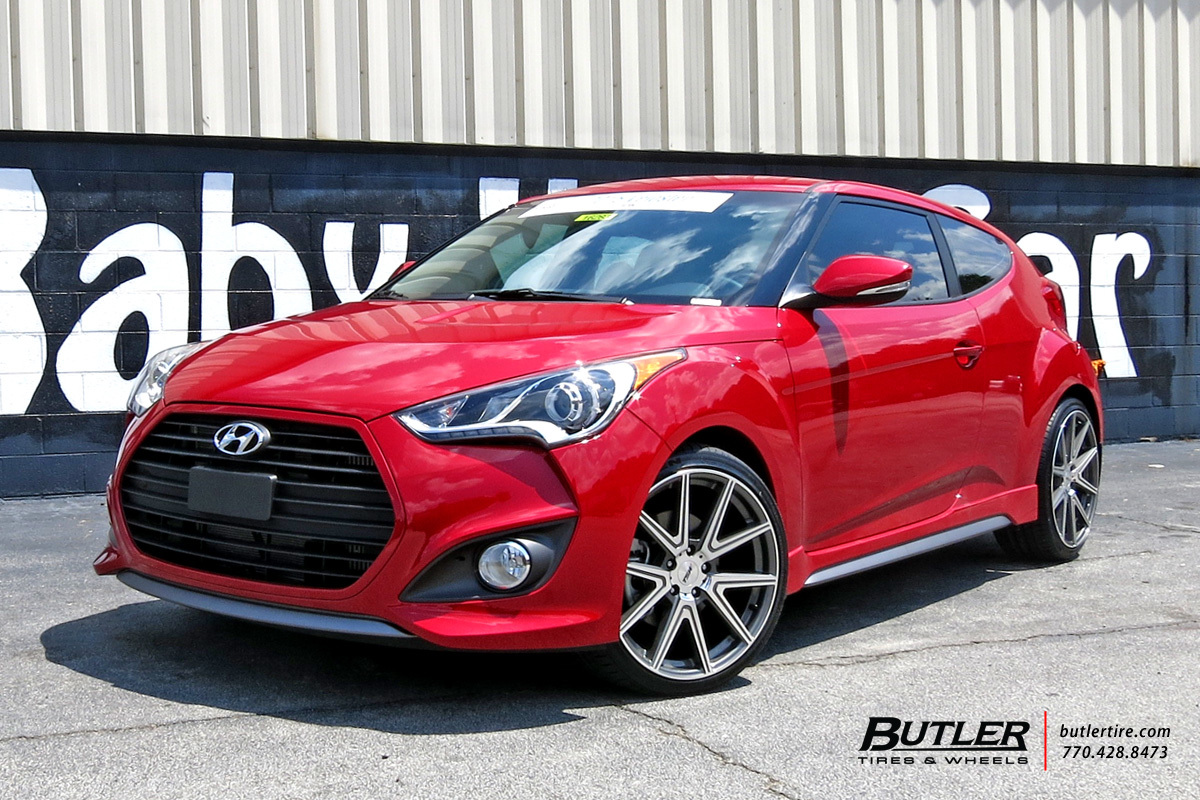 hyundai veloster custom wheels tsw rouge 19x et tire. Black Bedroom Furniture Sets. Home Design Ideas