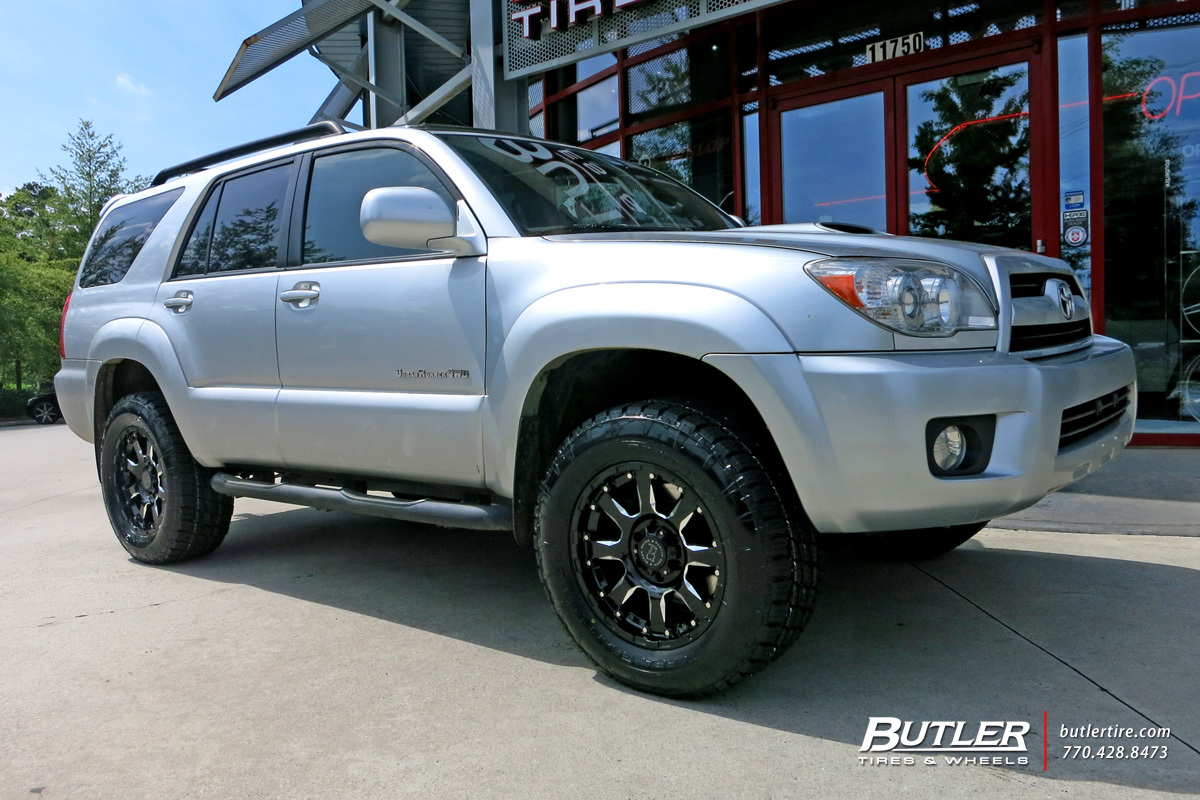 Toyota 4runner Custom Wheels Black Rhino Sierra 18x Et Tire Size R18 X Et