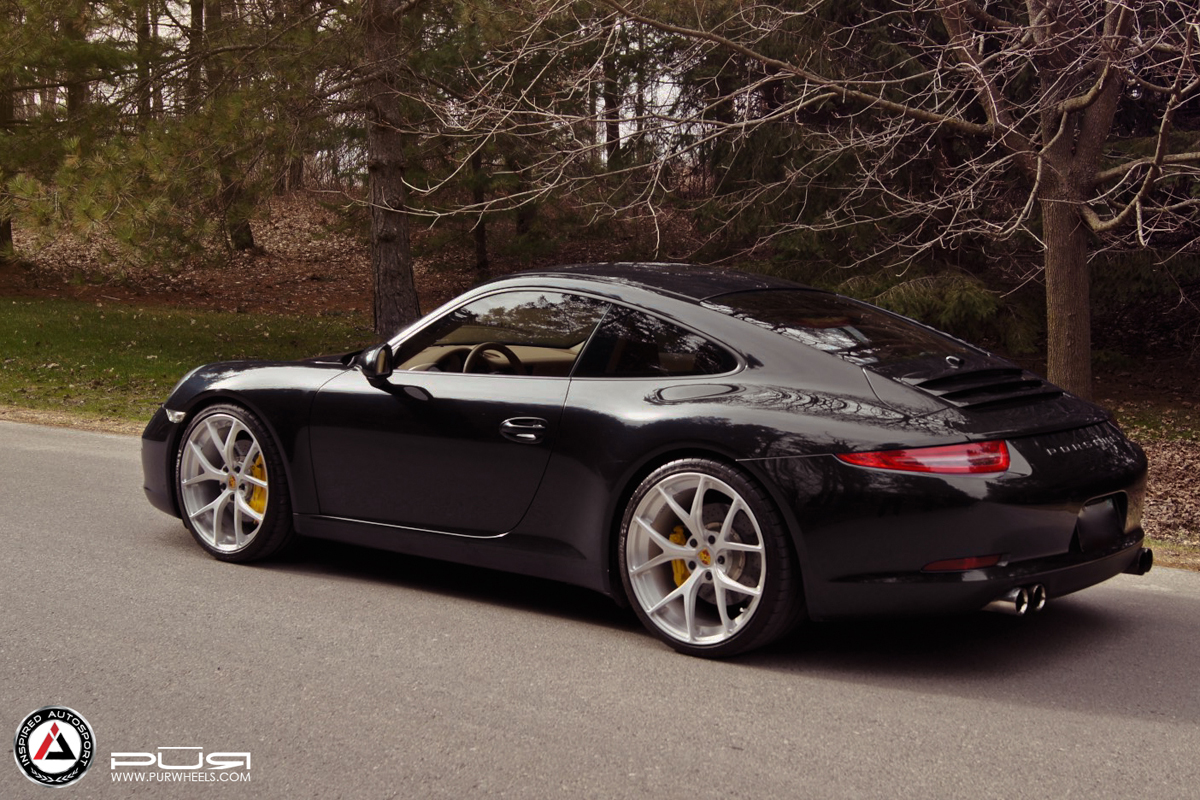 porsche 911 custom wheels pur 4our 20x8 5 et tire size. Black Bedroom Furniture Sets. Home Design Ideas