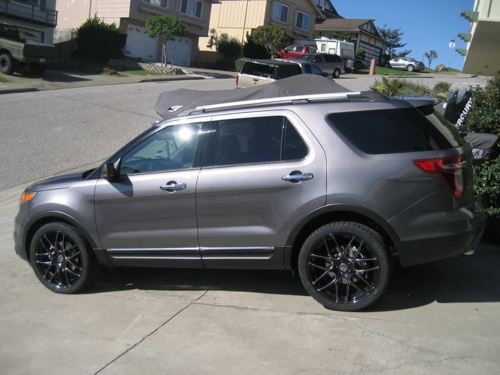 ford explorer custom wheels falken rt 7m 22x et tire size r22 x - Ford Explorer 2012 Black