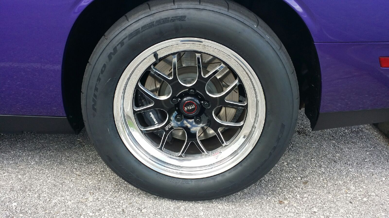 Dodge Challenger custom wheels Weld S77 18x8.0, ET , tire ...