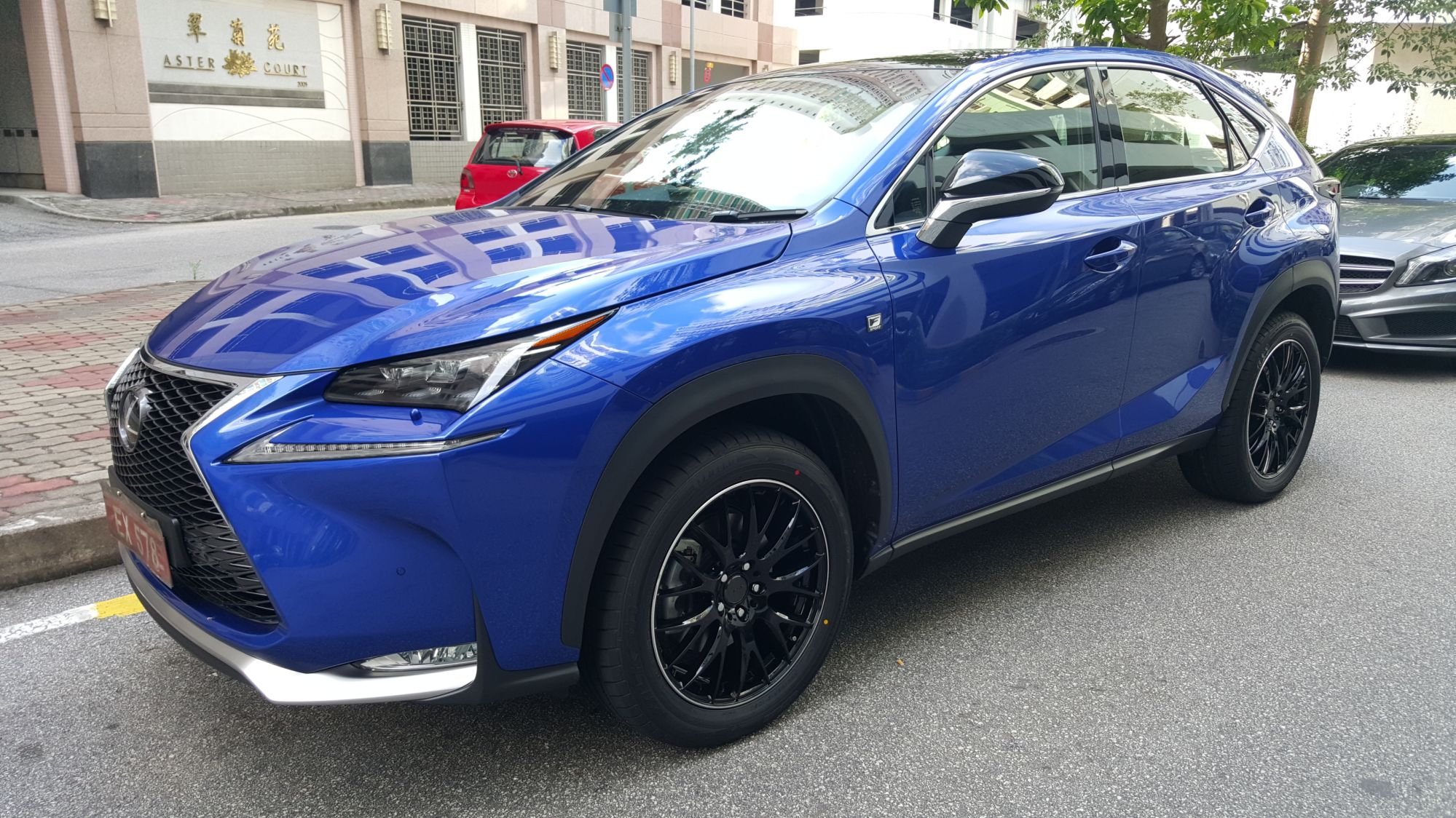 lexus nx 200t custom wheels volk rays 19x et tire size 235 55 r19 x et. Black Bedroom Furniture Sets. Home Design Ideas