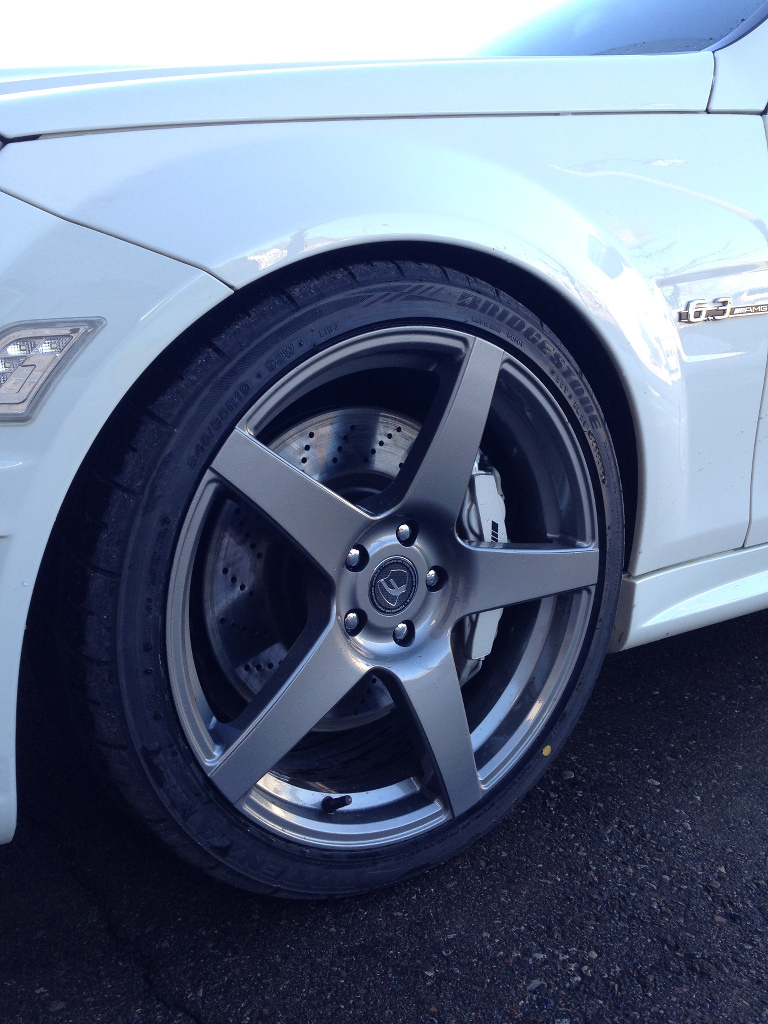 Mercedes benz c class custom wheels forgestar cf5 19x8 5 for Mercedes benz c300 tire size
