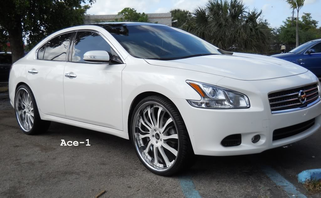 Nissan Maxima custom wheels ACE Forgiato 24x, ET , tire ...