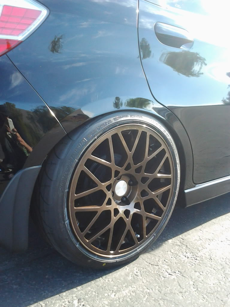 honda fit custom wheels rotiform blq 18x8 5 et 45 tire. Black Bedroom Furniture Sets. Home Design Ideas