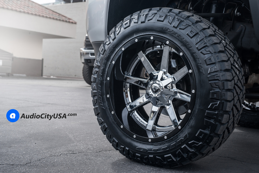 photo 1 GMC Sierra 2500HD custom wheels Fuel D260 22x12.0, ET , tire size 315/60 R22. x ET