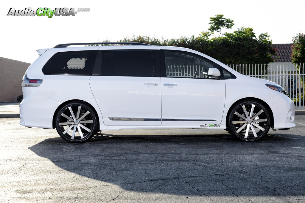 2014 Sienna Tire Size >> Toyota Sienna custom wheels Velocity VW 12 Machine Face 22x8.0, ET , tire size 265/35 R22. x ET