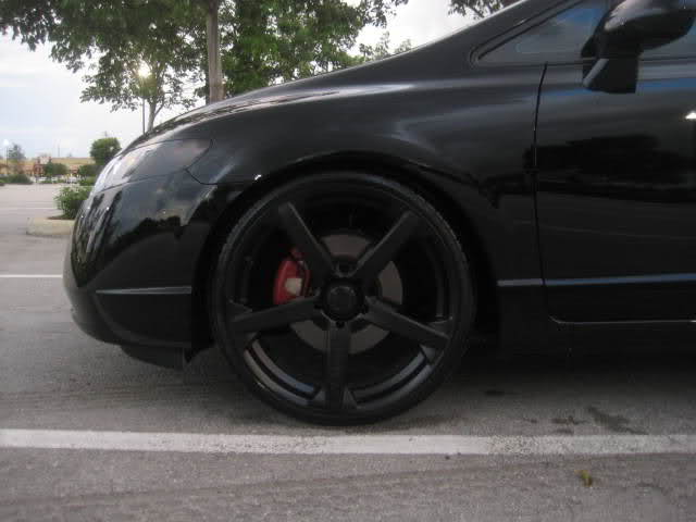 honda civic custom wheels drifz 20x8 5 et tire size 225. Black Bedroom Furniture Sets. Home Design Ideas