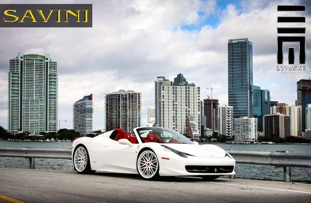 ferrari 458 spider custom wheels savini forged sv25 c 21x9. Black Bedroom Furniture Sets. Home Design Ideas