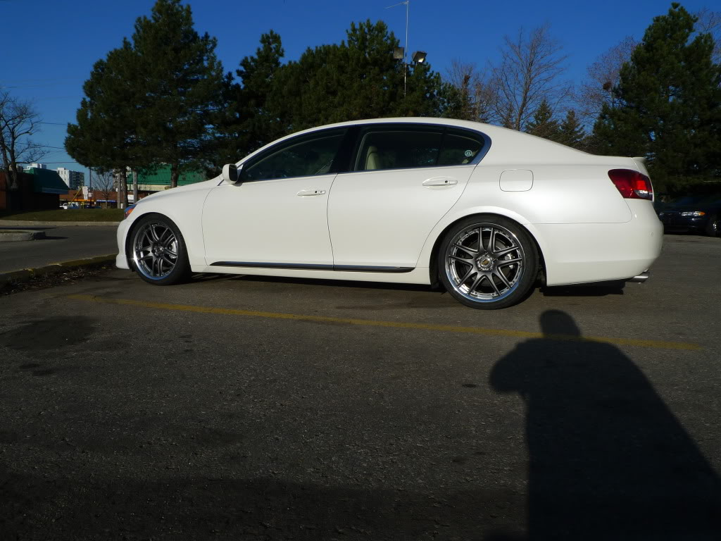 Lexus GS 460 custom wheels VOLK GT-V 19x8.5, ET +33, tire size 245 ...