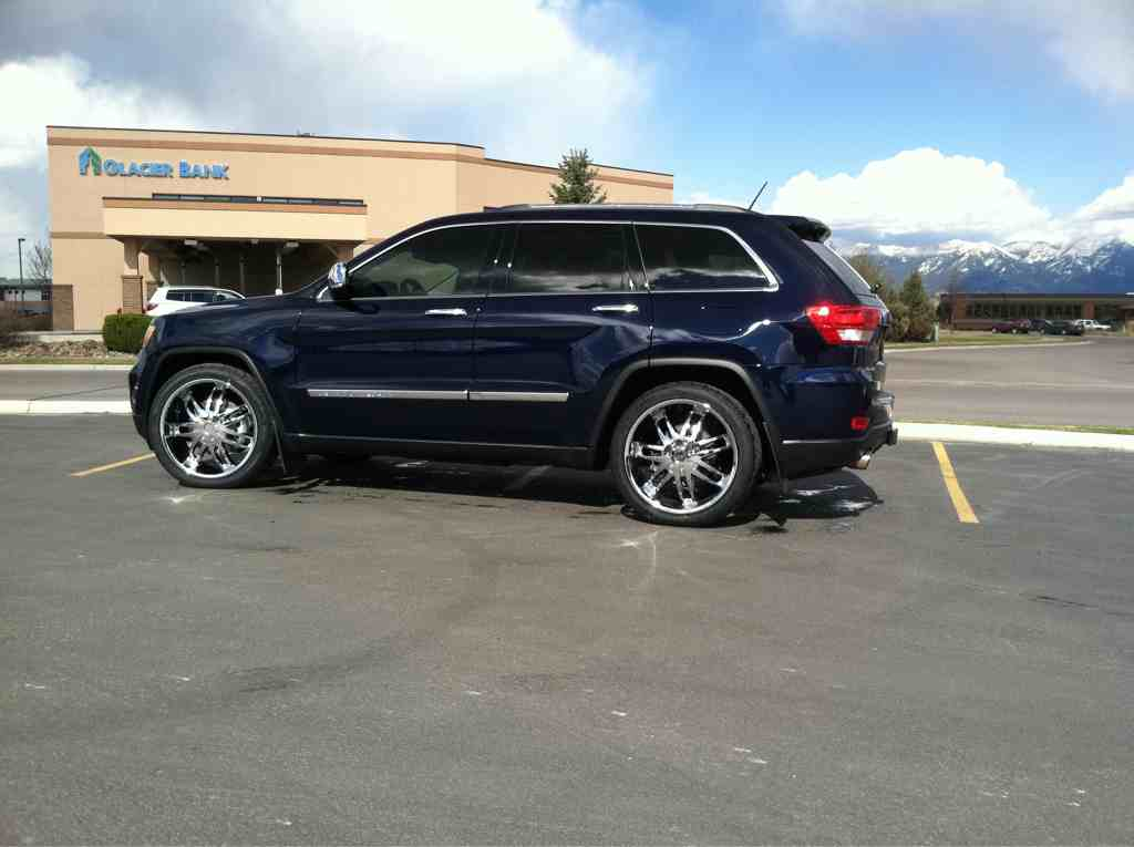 jeep grand cherokee custom wheels 22x9 5 et 38 tire size 275 40 r22. Cars Review. Best American Auto & Cars Review