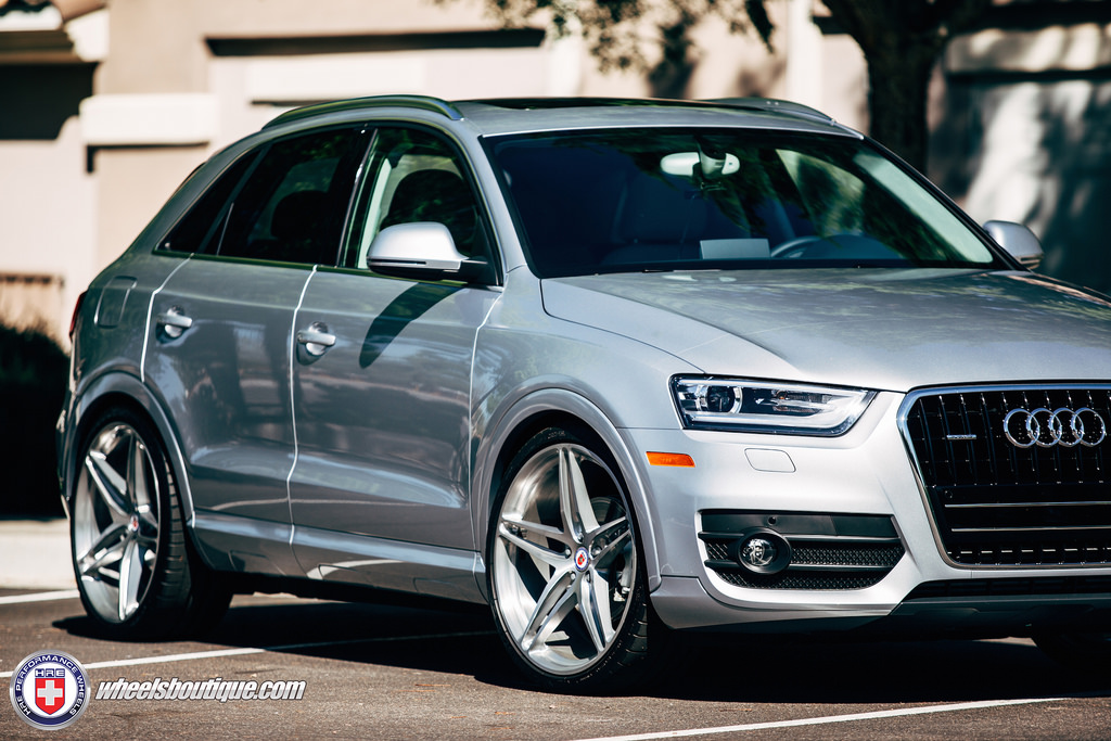audi q3 custom wheels hre p107 21x9 0 et tire size 255. Black Bedroom Furniture Sets. Home Design Ideas