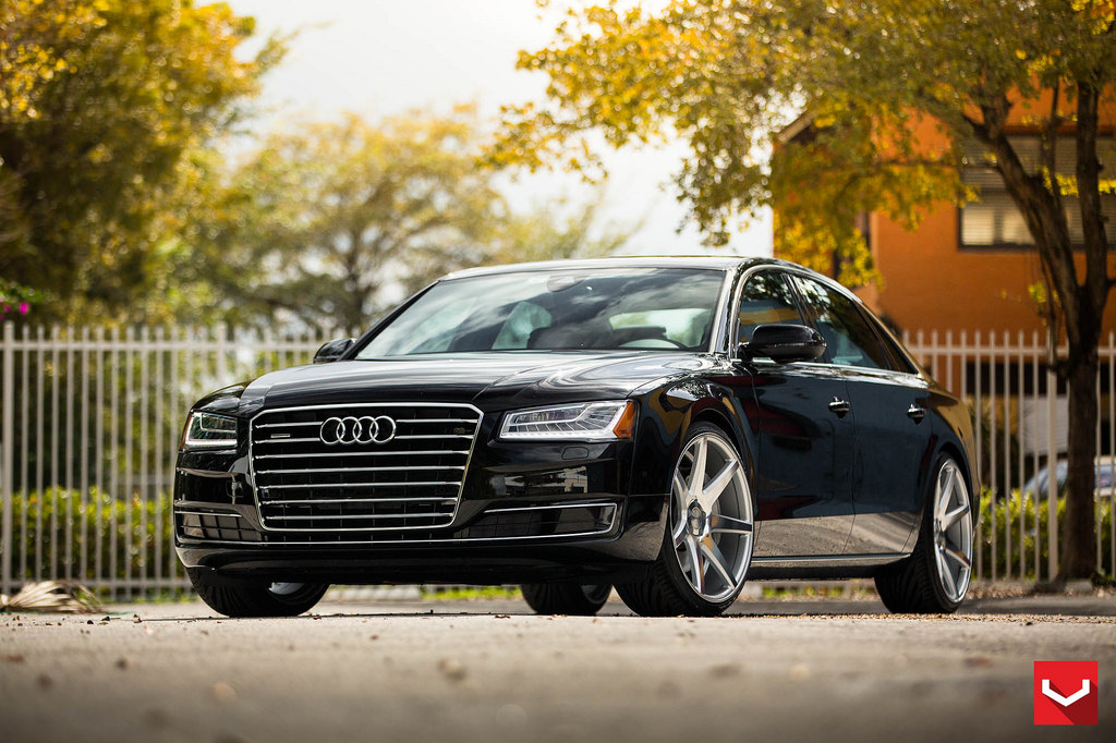 Audi A8 custom wheels Vossen CV-7 22x10.5, ET , tire size ...