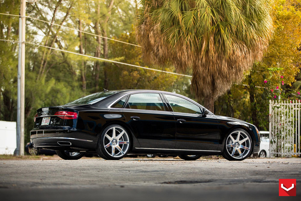 Audi A8 Custom Wheels Vossen Cv 7 22x10 5 Et Tire Size