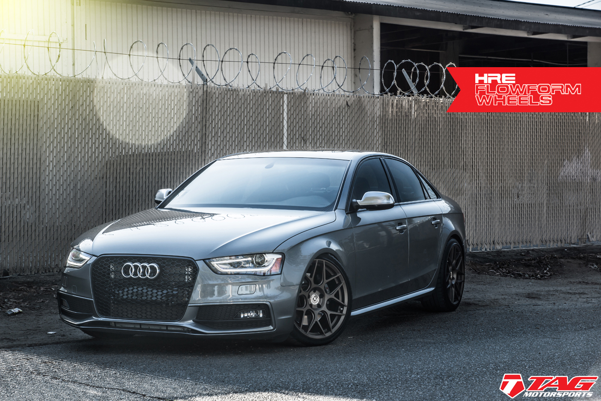 Audi S4 Custom Wheels Hre Flowform Ff01 19x Et Tire