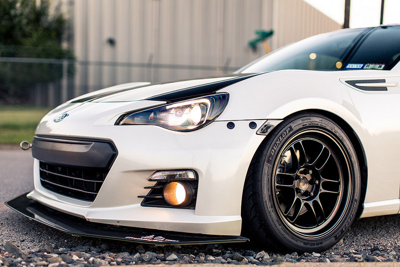 Subaru BRZ custom wheels Enkei RPF1 17x9.0, ET +35, tire ...