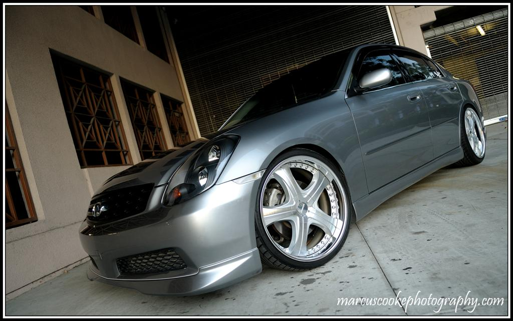 infiniti g35 custom wheels lowenhart ld5 20x9 0 et 38. Black Bedroom Furniture Sets. Home Design Ideas