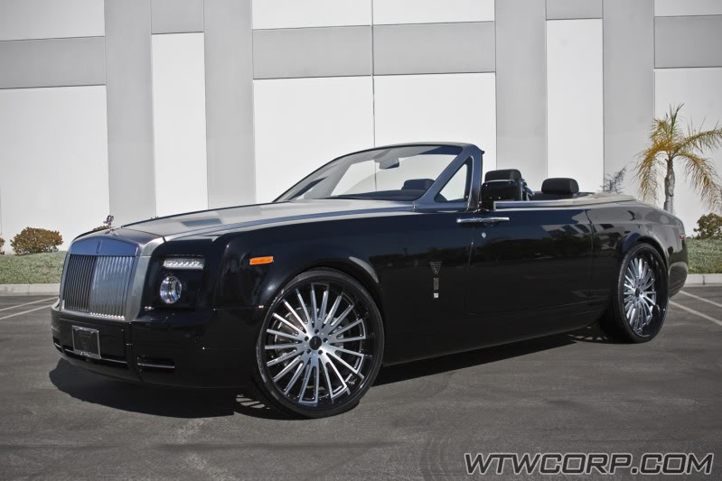 Rolls Royce Phantom Drophead Coupe Custom Wheels Giovanna