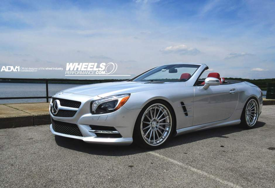 Mercedes benz sl class custom wheels adv 1 15 track spec for Mercedes benz tire sizes