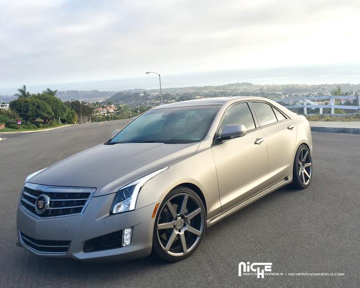cadillac ats custom wheels niche verona m149 19x et 35 tire size 265 30 r19 x et 225 35 r. Black Bedroom Furniture Sets. Home Design Ideas