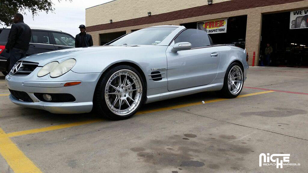 Mercedes benz sl class custom wheels niche chicane h81 for Mercedes benz tire sizes