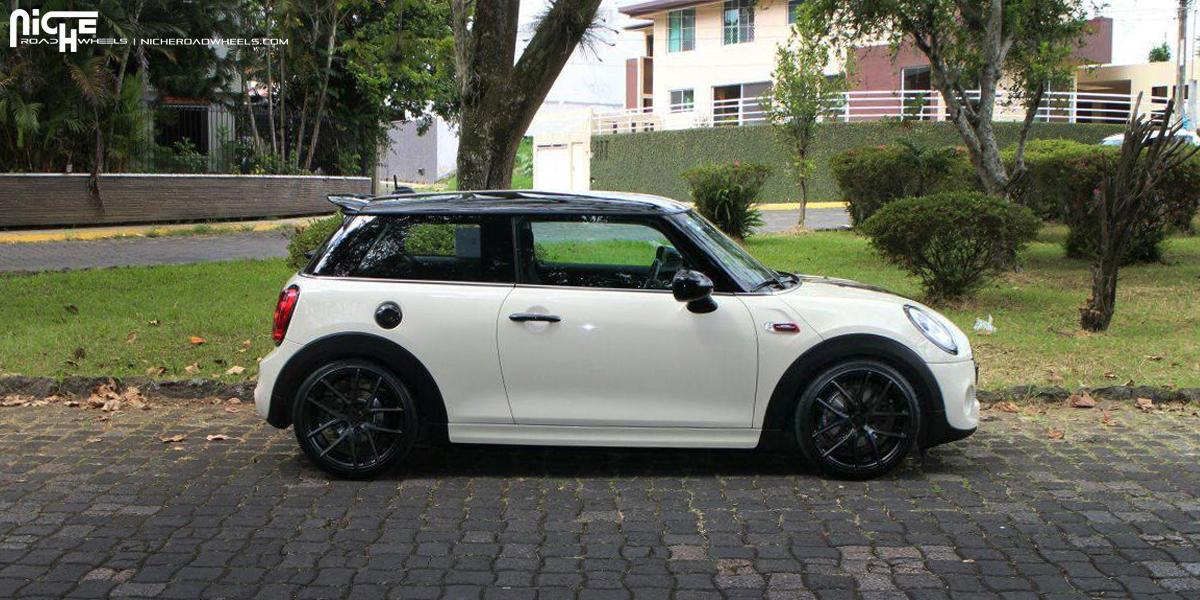 mini cooper custom wheels niche targa m130 18x8 0 et. Black Bedroom Furniture Sets. Home Design Ideas