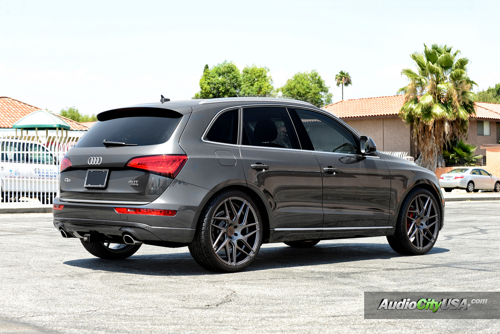 Audi Q5 Custom Wheels Blaque Diamond Bd 3 22x9 0 Et