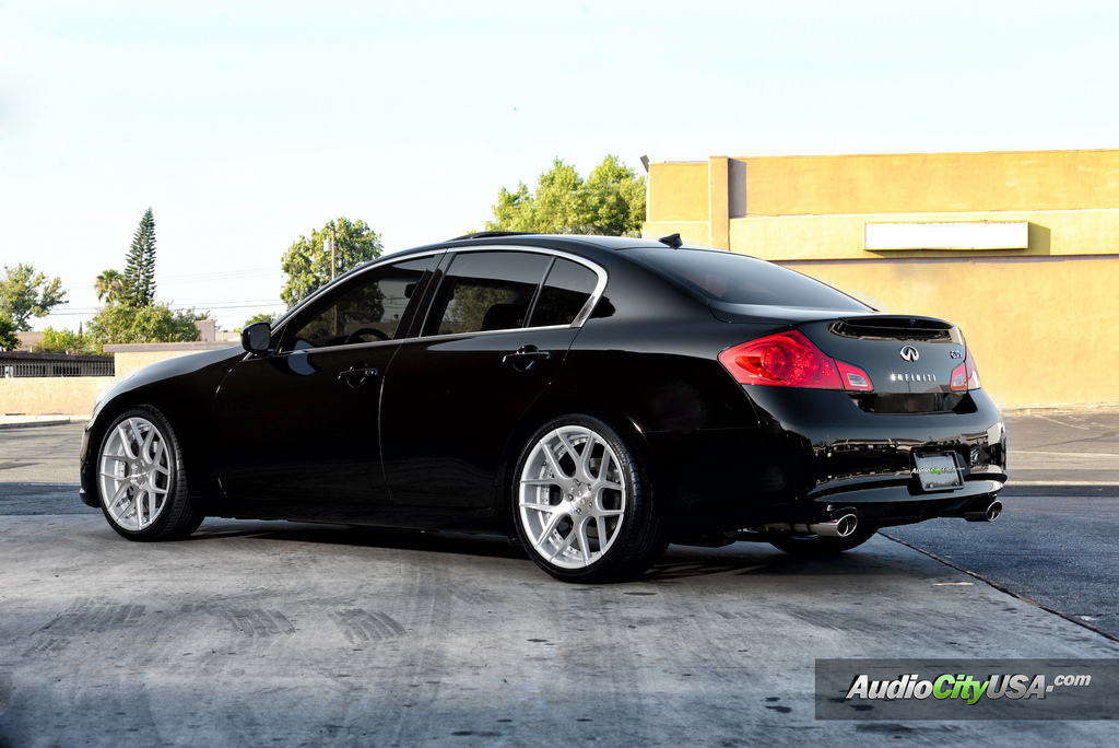 Infiniti G37 Custom Wheels Rennen Csl 4 20x9 0 Et Tire