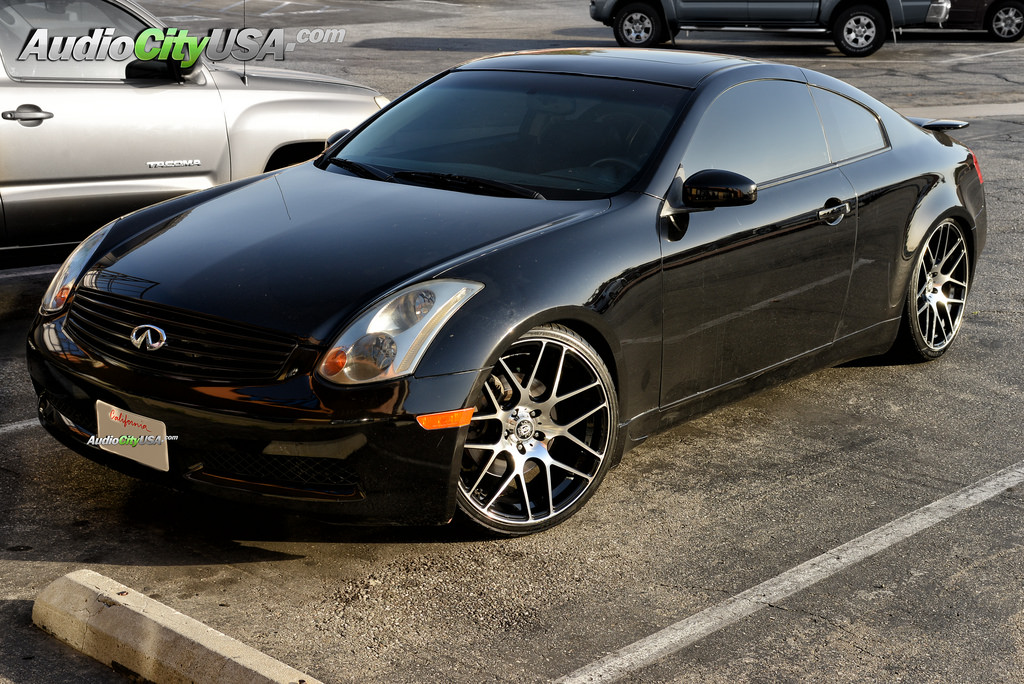 infiniti g35 custom wheels curva concepts 20x8 5 et. Black Bedroom Furniture Sets. Home Design Ideas