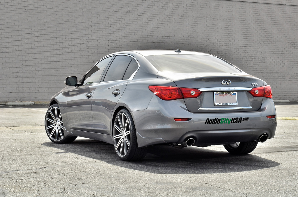 Infiniti Q50 custom wheels Vossen CV4 20x9.0, ET , tire ...